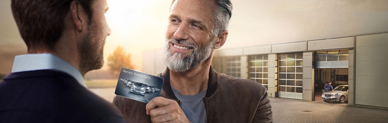 mit der mercedes-benz service vorteilskarte 20% sparen